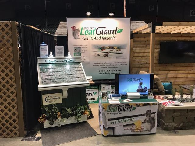 Newly Revamped LeafGuard Gutter Home Show Display - Image 1